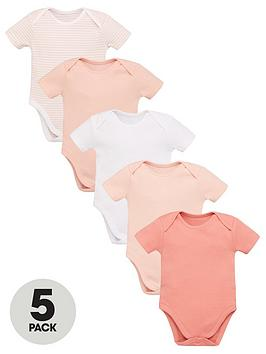 v-by-very-baby-girls-5-pack-short-sleeve-essential-bodysuits--nbsppink-mix