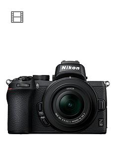 nikon-z-50-mirrorless-cameranbspamp-nikkor-z-dx-16-50mm-f35-63-vr-lensnbspamp-ftz-mount-adapter-kit