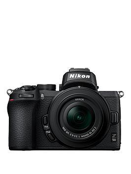 Nikon Nikon Z 50 & Nikkor Z Dx 16-50Mm F/3.5-6.3 Vr & Ftz Mount Adapter Kit Picture