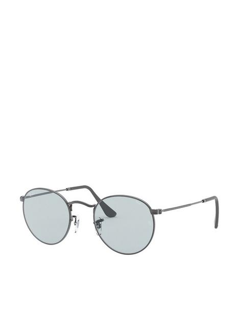 ray-ban-round-metal-sunglasses--nbspgunmetal