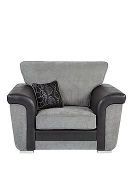 Very Manhattan Fabric And Faux Snakeskin Armchair Picture