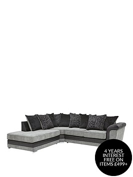 manhattan-fabric-and-faux-snakeskin-left-hand-single-arm-scatter-back-corner-chaise-sofa