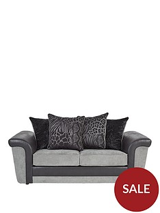 manhattannbspfabric-and-faux-snakeskin-scatter-back-sofa-bed