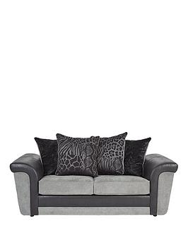 Very Manhattan Fabric And Faux Snakeskin Scatter Back Sofa Bed Picture