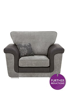 vidal-fabric-and-faux-snakeskin-armchair
