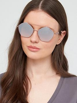Guess Guess Gu7644 Geometric Sunglasses - Lilac Picture