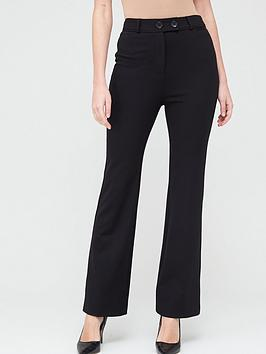 V by Very V By Very Ponte Bootcut Trousers - Black Picture