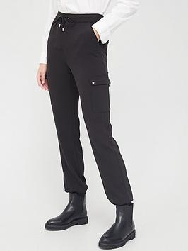 V by Very V By Very Smart Utility Joggers - Black Picture