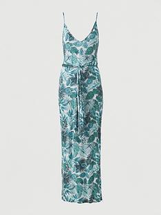 v-by-very-strappy-belted-beach-midi-dress-green-print