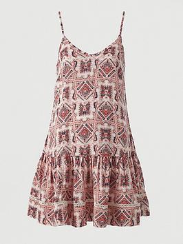 V by Very V By Very Flippy Lace Insert Viscose Beach Dress Picture