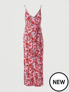 v-by-very-strappy-belted-beach-midi-dress-pink-floral