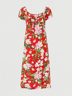 v-by-very-bardot-viscose-midinbspdress-red-print