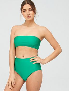 V by Very V By Very Bandeau Bikini Top - Green Picture