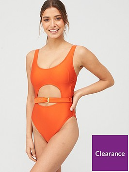 v-by-very-belted-high-leg-swimsuit-bright-orangenbsp