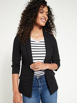 V by Very V By Very Ultimate Ruched Sleeve Blazer - Black Picture