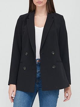 V by Very V By Very Longline Double Breasted Blazer - Black Picture