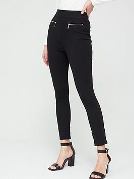 V by Very V By Very Ponte Skinny Trousers - Black Picture
