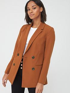 v-by-very-longline-double-breasted-blazer-rust