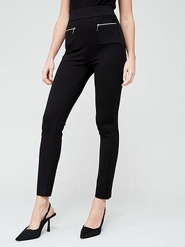 V by Very V By Very Ponte Tall Skinny Trousers - Black Picture