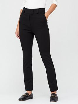 V by Very V By Very Ponte Slim Leg Trousers - Black Picture