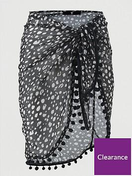 v-by-very-pom-pom-trim-beach-sarong-animal-print