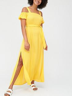 v-by-very-cold-shoulder-crinkle-beach-dress