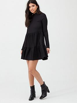 River Island River Island River Island High Neck Tiered Panelled Smock  ... Picture
