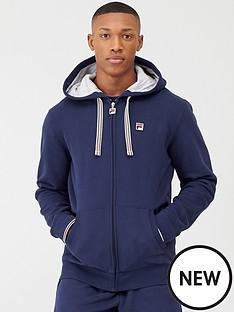 fila-tenconi-zip-through-fleece-hoodie-navy