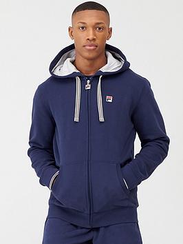 Fila Fila Tenconi Zip Through Fleece Hoodie - Navy Picture