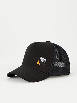 sprayway-trucker-cap-black