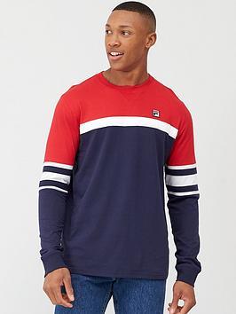 Fila Fila Baden Colour Block Sweatshirt - Navy/White/Red Picture