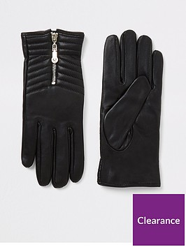 river-island-boxed-quilted-leather-gloves-black