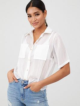 In The Style In The Style In The Style X Laura Jade Stripe Organza Shirt -  ... Picture
