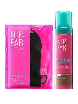Nip + Fab Nip + Fab Express Faux Tan Mousse Caramel & Luxury Tanning Mitt  ... Picture