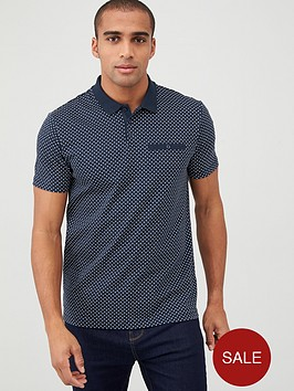 v-by-very-ditsy-polka-dot-polo-shirt-navy