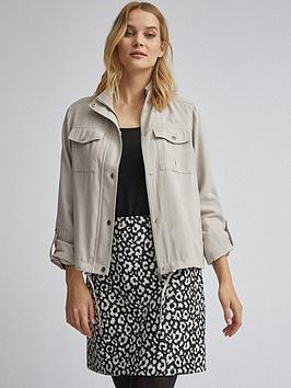 Dorothy Perkins Dorothy Perkins Relaxed Shacket - Stone Picture