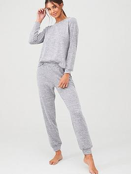 V by Very V By Very Soft Touch Lounge Set - Grey Marl Picture