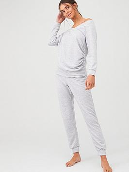 V by Very V By Very V Neck Lounge Set - Grey Picture