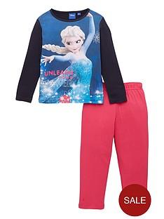 disney-frozen-girls-elsa-unleash-pyjamas-navy