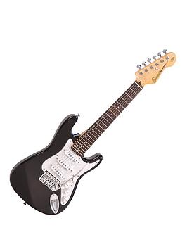 Encore Encore Encore 3/4 Size Electric Guitar Outfit - Gloss Black Picture