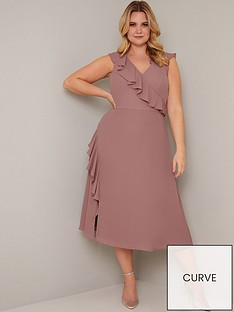 chi-chi-london-curve-kai-ruffle-wrap-style-dress-mink