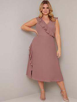 Chi Chi London Curve Chi Chi London Curve Kai Ruffle Wrap Style Dress -  ... Picture