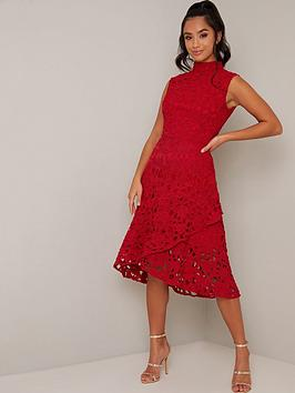Chi Chi London Petite Chi Chi London Petite Malin Dress - Red Picture