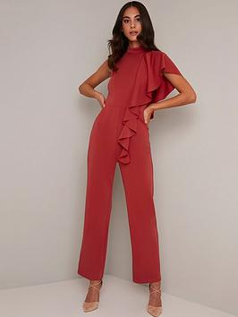 chi chi london  Chi Chi London Ionie Jumpsuit - Rust