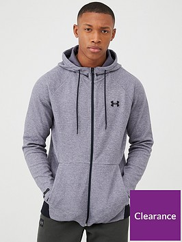 under-armour-unstoppable-2x-knit-full-zip-hoodie-grey