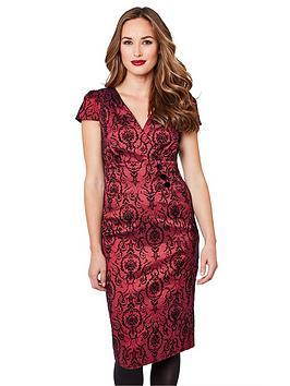 joe-browns-stunning-flocked-dress-pink
