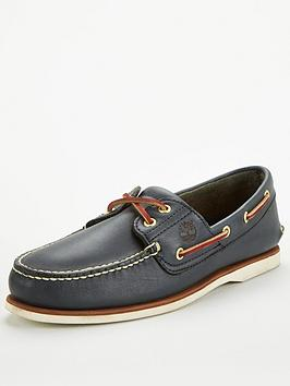 Timberland Timberland Leather Boat Shoes - Blue Picture
