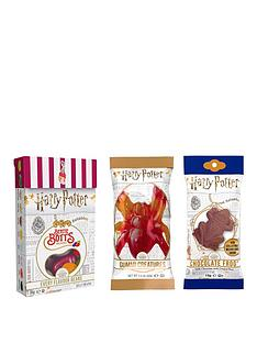 harry-potter-bertie-botts-beans-gummi-creatures-and-chocolate-frog-with-collectable-card