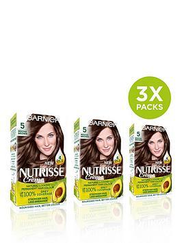 Garnier Garnier Garnier Nutrisse Permanent Hair Dye - Pack Of 3 Picture