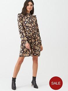 warehouse-neutral-daisy-mini-dress-natural